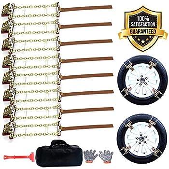 Amazon Com Somoya Snow Chains 10pcs Anti Skid Tire Chains