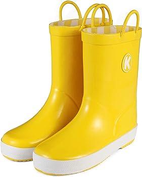 KomForme Kids Waterproof Rubber Rain Boots (various sizes/colors)
