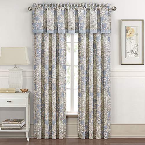 (Royal Court Palermo Harlequin Medallion 84 Inch Window Panel Pair, Blue)