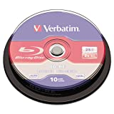 Verbatim Blu-Ray BD-RE 25GB 2X 10-Pack Spindle Box Model 43694