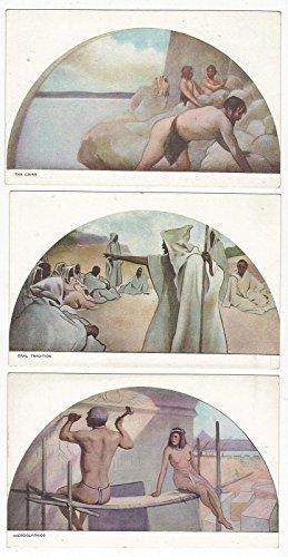 6- Library of Congress Washington, DC Alexander Panels Antique Postcards N3850
