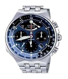 Citizen AV0030-60L - Reloj analógico de cuarzo para hombre con correa de acero inoxidable, color plateado