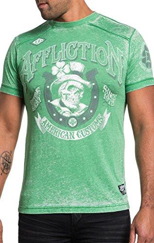 Affliction Lucky Rider Shirt - Kelly Green - Medium