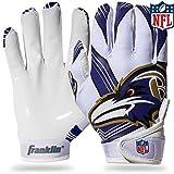NFL Baltimore Ravens Youth Receiver Gloves,White,Medium