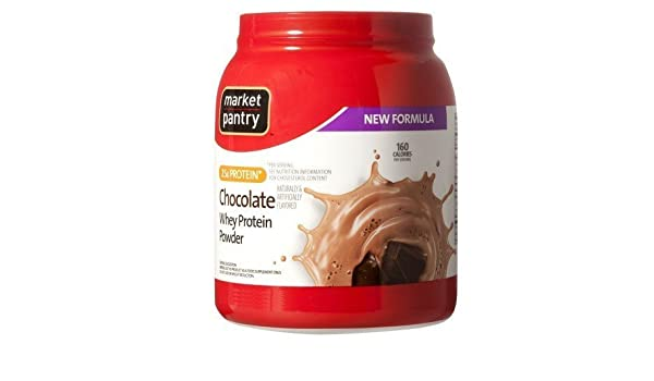 Amazon.com: Market Pantry Chocolate Whey Protein Powder - 32 Oz by Market Pantry: Health & Personal Care