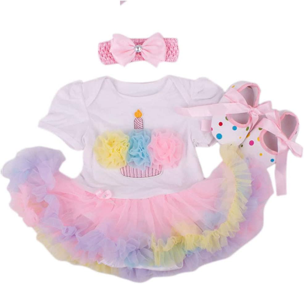 """Replaces Clothes For 20/""""-22/"""" Reborn Doll Girl Baby Dress+Headdress 1 set"""