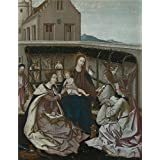 Oil painting 'Portuguese The Mystic Marriage of Saint Catherine ' printing on high quality polyster Canvas , 18 x 23 inch / 46 x 59 cm ,the best Wall art artwork and Home decoration and Gifts is this Beautiful Art Decorative Prints on Canvas