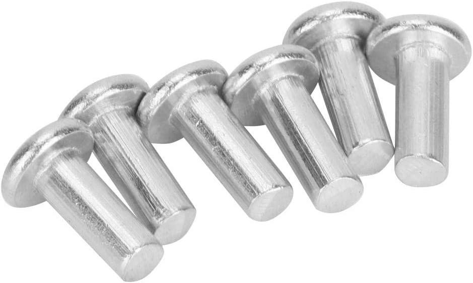 100 St/ück GB867 M4 Flachkopf Aluminium Nieten Vollniet M4*10