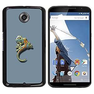 Be Good Phone Accessory // Dura Cáscara cubierta Protectora Caso Carcasa Funda de Protección para Motorola NEXUS 6 / X / Moto X Pro // Cute Funny Minimalist Gecko Gecko Lizard