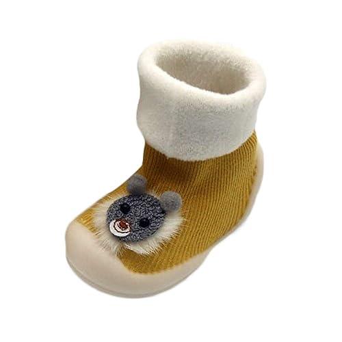 Mitlfuny Bebé Niños Niñas Invierno Zapatos para Niño Piso Calcetines Suelas de Goma Zapatillas para Niña Primeros Pasos de Dibujos Animados Gato ...