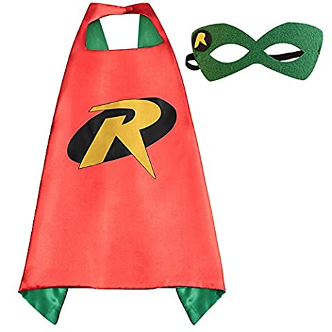Kids Superhero Capes and Masks set Kids Halloween Dress Up Party Costumes