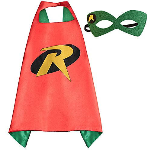 Kids Superhero Capes and Masks set Kids Halloween Dress Up Party Costumes (Superhero Halloween)