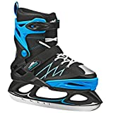 Lake Placid Monarch Boys Adjustable Ice Skate, Black/Blue, Small 11-2