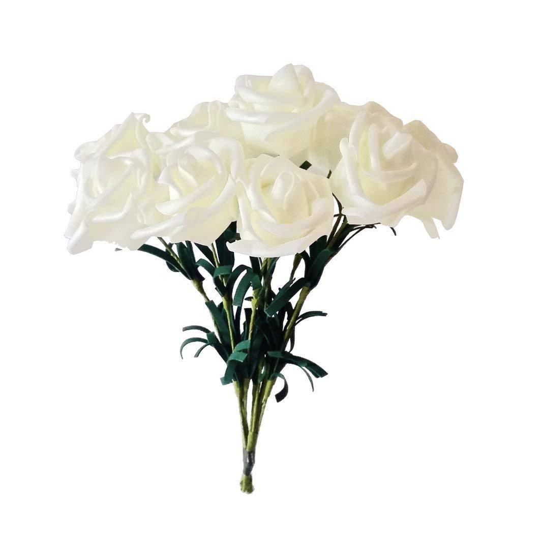BABYHYY ラグジュアリー 造花 フォーム ローズ ウェディング 花嫁付添人 ブライダルブーケ パーティー 装飾 花(ホワイト、18個パック) 24pcs Pack TGHJUNGP962745 B07GBYCQYX ピーチ 24pcs Pack