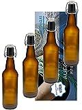 "6er Set Bügelflaschen Bügelflasche Glasflaschen Bügelflaschen 500ml "" Braun "" mit Bügelverschluss zum Selbstbefüllen Bier Bierflaschen Bierflasche Vitrea"