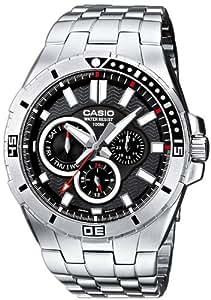 Casio MTD-1060D-1AVDF - Reloj para hombres, correa de acero inoxidable color plateado