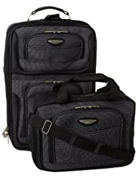 Traveler's Choice Travel Select Luggage Amsterdam Two-Piece Carry-On Luggage Set, Gray, One Size