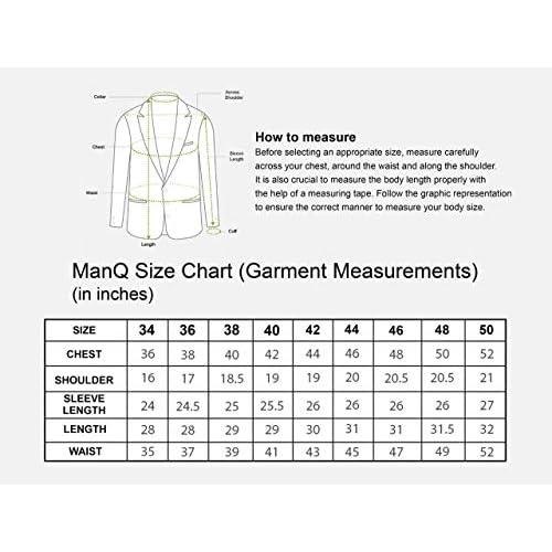 51ROCTyrHFL. SS500  - MANQ Men's Slim Fit Formal/Party Men's Blazer