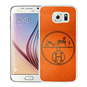 Unique And Luxurious Designed For Samsung Galaxy S6 Cover Case With Hermes 8 White Phone Case