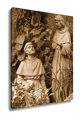 Ashley Canvas Statue In The Courtyard Of The Old Catholic Church Of The Basilica Del Santo, Home Office, Ready to Hang, Sepia 25x20, AG5975428 by Ashley Canvas