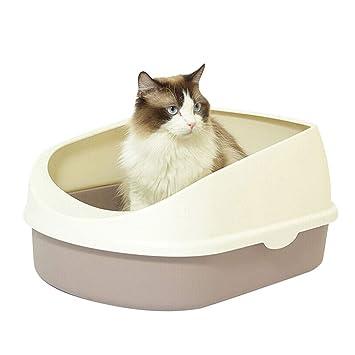 NYJ Aseo para Gatos Bandeja de Basura para Gatos con Borde ...