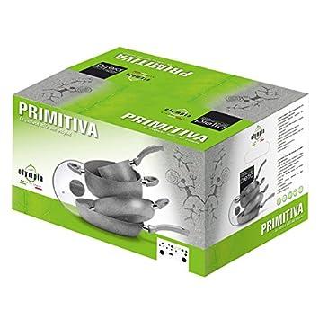 Juego primitiva: sartenes ollas cacerolas Aluminio Alto Grosor - 8pz ...
