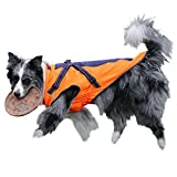 GWELL Dog Coat - Waterproof, Fleece-Lined Rain Jacket/Autumn Jacket/Winter Coat/Functional Vest with D-Rings and Strap - For Medium-Sized to Large Dogs, and Colours