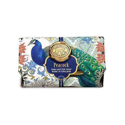 (Michel Design Works Oversized Triple Milled Shea Butter Bath Soap Bar, Peacock)