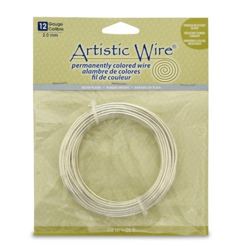 Artistic Wire 12 Gauge Wire, Tarn Resist Silver