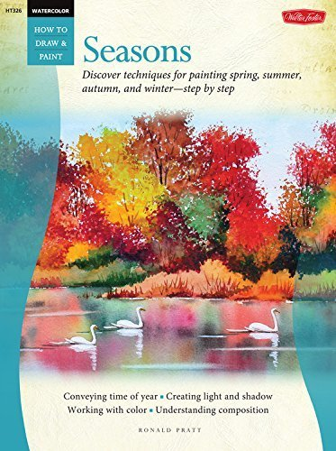 Watercolor: Seasons: Discover techniques for painting spring, summer, autumn, and winter--step by step (How to Draw & Paint) by Ronald Pratt - Winter Paintings Watercolor