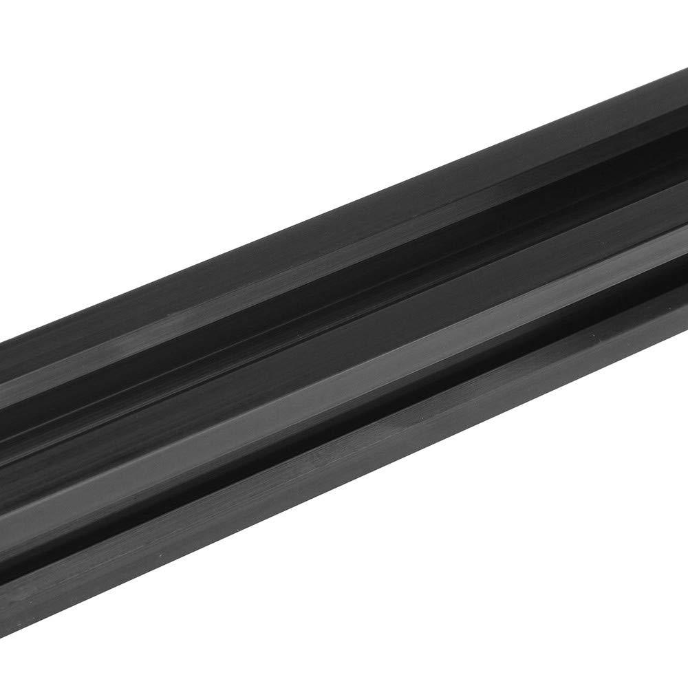 100-1000 mm 2020 V-Slot klar eloxiertes Aluminium Profil Extrusion Rahmen schwarz f/ür CNC-Gravurmaschine 300mm