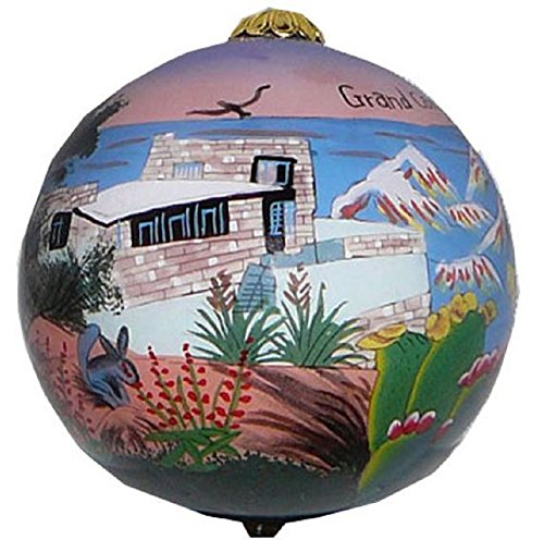 - Home and Holiday Shops Grand Canyon National Park South Rim Reverse Paint Glass Ball Christmas Ornament