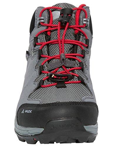 VAUDE Lapita Mid Cpx, Zapatos de High Rise Senderismo Unisex Niños Rojo (Indian Red)