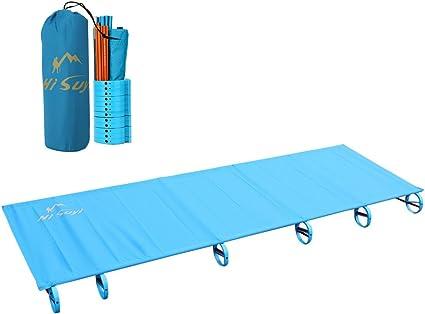 Ultralight Compact Folding Aluminium Alloy Camping Tent Cot Bed /& Carry Bag Blue