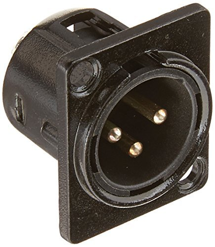 Seismic Audio SAPT214 XLR Male Panel Mount Connector and Fits Series D Pattern Holes Pro Audio [並行輸入品]   B078M3GK4W