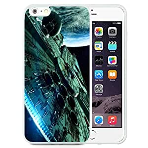 Fashionable Custom Designed iPhone 6 Plus 5.5 Inch Phone Case With Star Wars Spaceship Science Fiction_White Phone Case