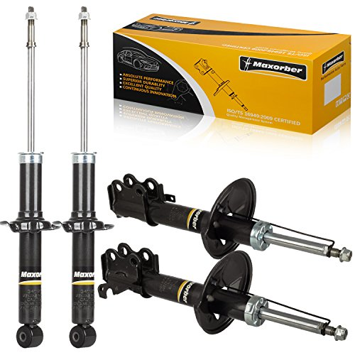 (Maxorber Full Set Front Rear Shocks Struts Absorber Compatible with Toyota Paseo 1992 1993 1994 Shock Absorber Replacement for Toyota Tercel 91 92 93 94 Shock Set 234053 234054 341125)