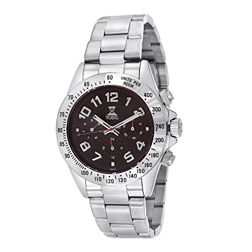 Nobel Men's 7C87G Chronograph Display Stainless Steel Multi-Function Watch, Cool Christmas Gift for Him