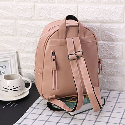 Women Travel Bag Bookbags Backpack Style Patchwork Pink Kofun Purple Bag Travel Geometric Rucksack Shoulder School Preppy Silver Bag Girls E40xnqwz