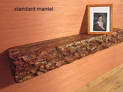 Floating mantel/shelf - 48 x 6,5 x 6 - imitation of wood - light solid, super easy installation, hanging hardware included