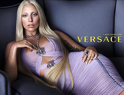 **PRINT AD** Set For Versace With Lady - Gaga Versace