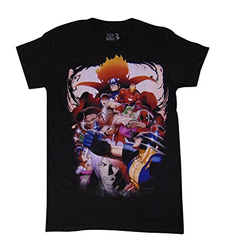 Marvel vs. Capcom Characters Shirt Black