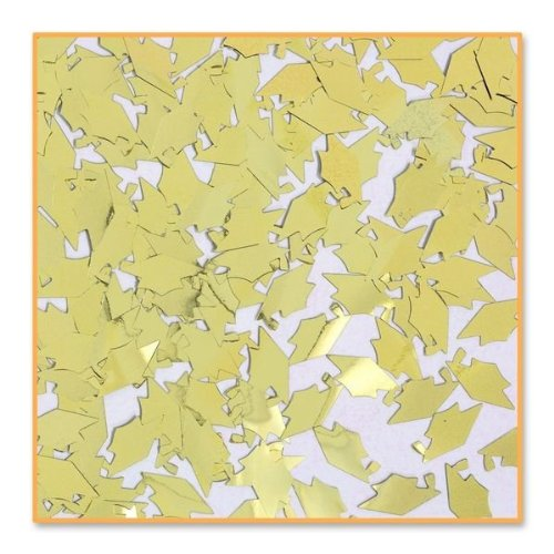 - Beistle CN015  Grad Caps Confetti, Gold
