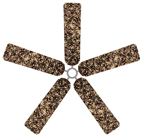 Fan Blade Designs 6542 Ceiling Fan Blade Covers, Digital Camo