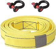DOITOOL 8 4 Medidor de Carga Ton Tow Rope Cabo de Reboque Do Carro Reboque Do Carro Corda de Reboque Do Caminh