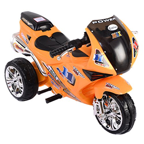 Costzon3 Wheel Kids Ride On Motorcycle 6V Battery Powered Electric Toy Power Bicycle (Power Wheels Ages 8 Up)
