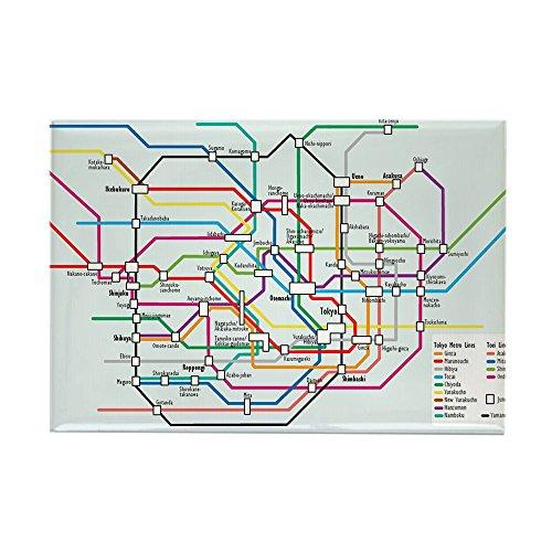 CafePress Tokyo Subway Map Rectangle Magnet Rectangle Magnet, 2
