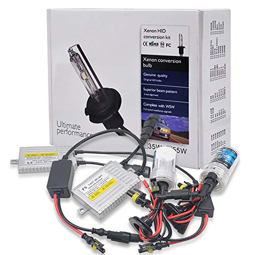 Akhan Digital 9/ 32/ V 35/ W CANBUS Bixenon Kit Set H4/ H//L 6000/ Kelvin with Ballast HID Xenon Bulb and Installation Materials No Error Message No Flicker