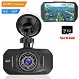 Dash Cam Car Camera Car Driving Recorder Auto Dash Cam 1080P FHD Car DVRs Camera with Sony IMX323 Sensor 2.7″ LCD Display with 16GB Card For Sale