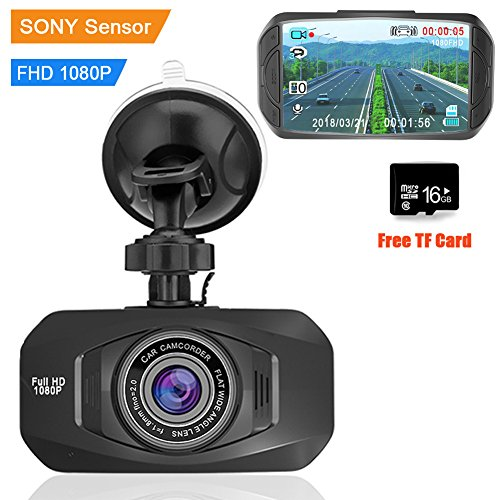 Auto Dash Cam 1080P FHD Car DVRs Camera With Sony IMX323 Sensor Real Night Vision Mini 170Degree Ultra clear 2.7